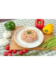 墨魚栗米肉餅